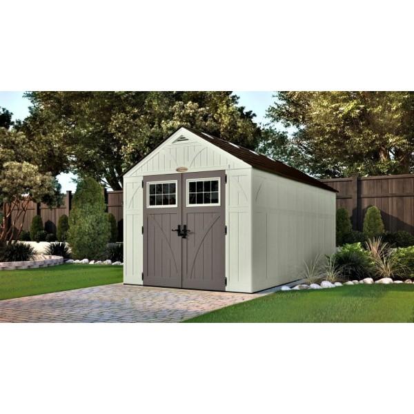 Suncast 8x16 Tremont Storage Shed W Floor Bms8160