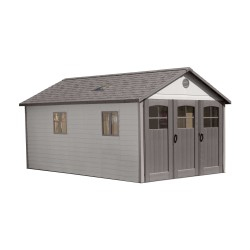 Lifetime 11x18.5 Storage Garage Kit w/ 9ft Wide Doors (60236)