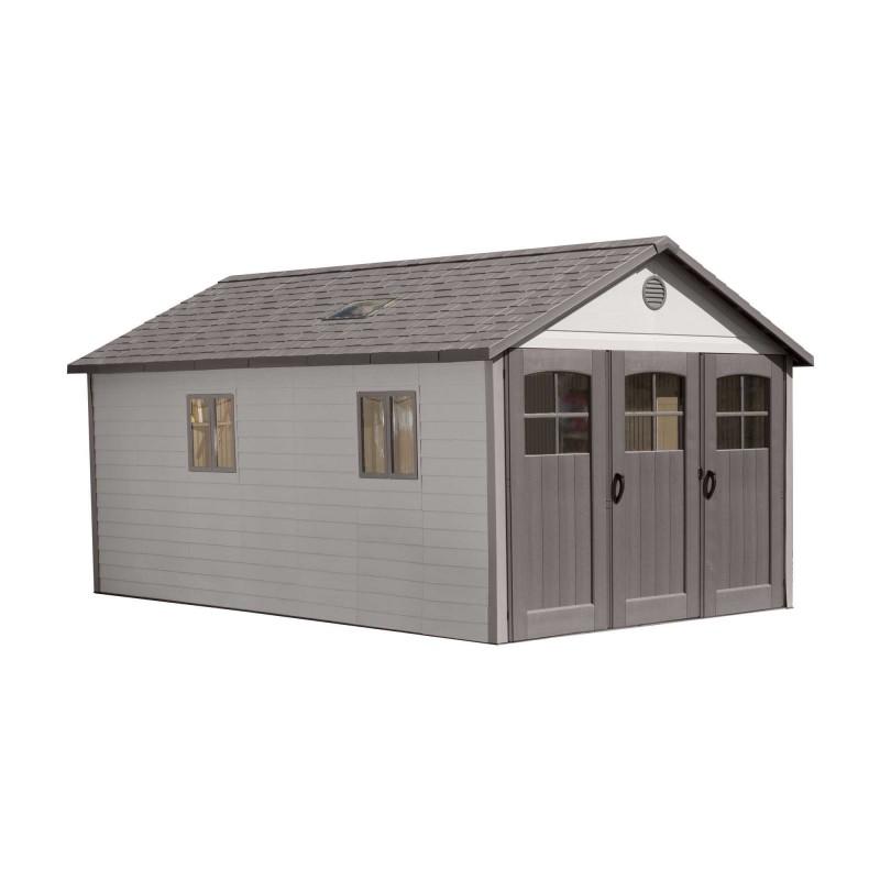 Lifetime 11x18.5 Storage Garage Kit w/ 9ft Wide Doors (60236)