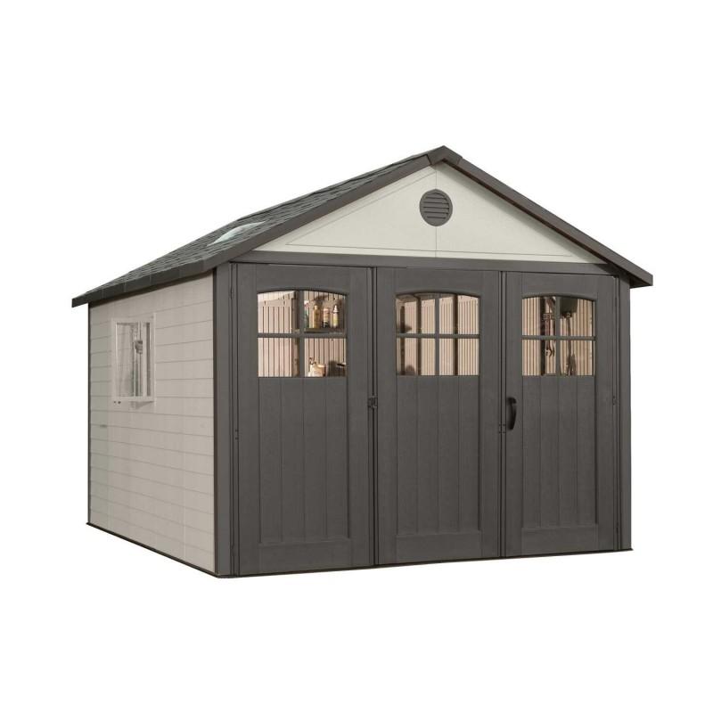 Lifetime 11x11 Plastic Storage Shed w/ 9ft Wide Doors (60187)