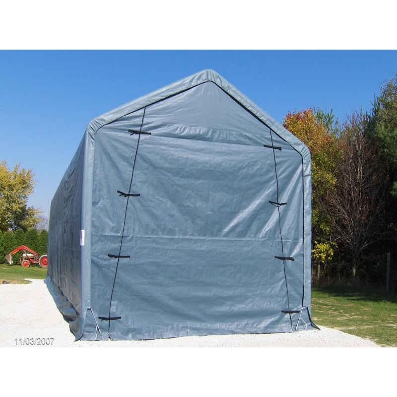 Rhino Shelter 14x42x15 Portable Rv Boat Garage Kit Gray