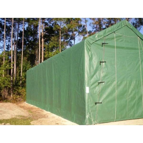 Rhino Shelter 14x42x15 Portable RV-Boat Garage Kit - Green ...