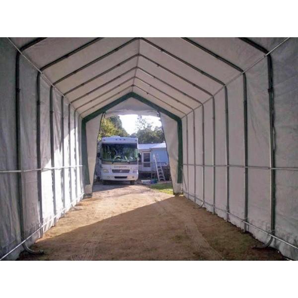 Rhino Shelter 14x42x15 Portable Rv Boat Garage Kit Green