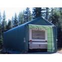 Rhino Shelter 14x42x15 Portable RV-Boat Garage Kit - Green (PB144215HGY)