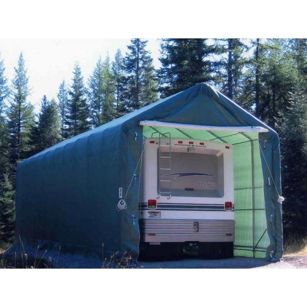 Rhino Shelter 14x42x15 Portable RV-Boat Garage Kit - Green ...