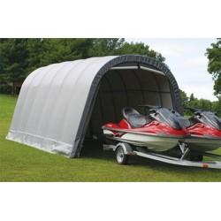 Shelter Logic 13x28x10 Round Style Shelter Kit - Grey (90233)