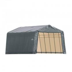 Shelter Logic 13x28x10 Peak Style Instant Garage Kit - Grey (90243)