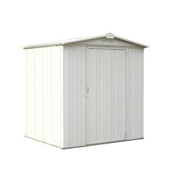 Arrow 6x5 Ezee Storage Shed Kit - Low Gable, 65 In Walls, Vents - Cream (EZ6565LVCR)