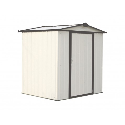 Arrow 6x5 Ezee Storage Shed Kit Low Gable 65 In Walls Vents Cream Charcoal Ez6565lvcrcc