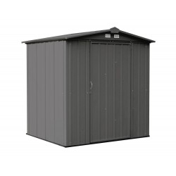 Arrow 6x5 Ezee Storage Shed Kit - Low Gable, 65 in Walls, Vents - Charcoal (EZ6565LVCC)