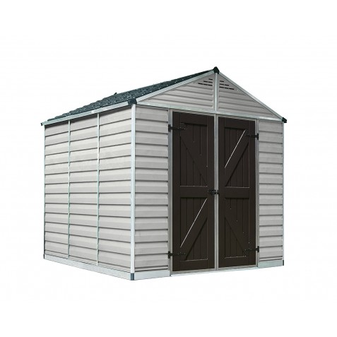 Palram 8x20 Skylight Storage Shed Kit - Tan (HG9820T)
