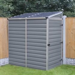 Palram 4x6 Lean-To Skylight Storage Shed Kit - Gray (HG9600T)