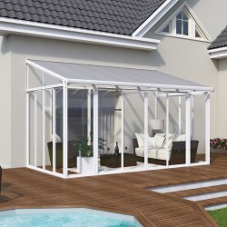 Palram 13x14 San Remo Patio Enclosure Kit - White  (HG9062)