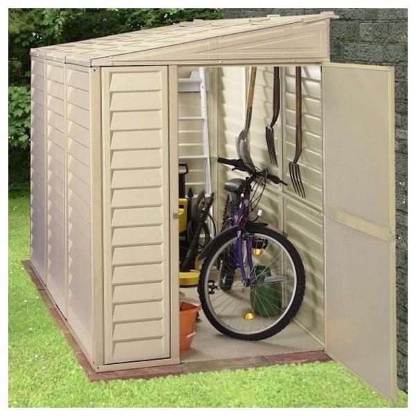 duramax 4x8 sidemate vinyl shed with foundation kit 06625. Black Bedroom Furniture Sets. Home Design Ideas