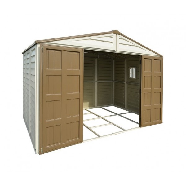 Duramax 10x8 Woodbridge Plus Vinyl Shed Kit W Foundation