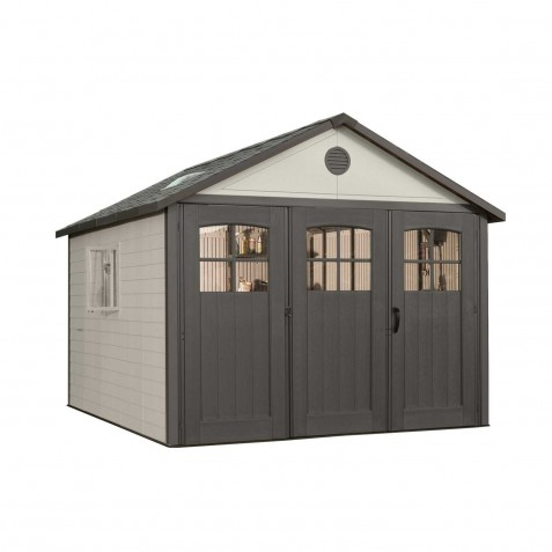 Lifetime 11x16 Plastic Storage Shed Kit w/ 9ft Wide Doors (60187/20125)