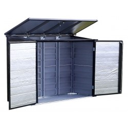 Arrow 6x3 Versa-Shed Locking Horizontal Storage Shelter - Onyx (EVRS63)