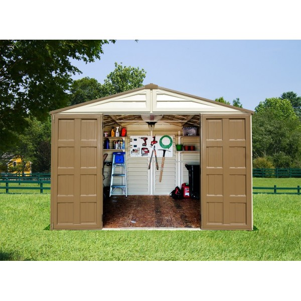 Duramax 10x13 Woodbridge Plus Vinyl Shed Kit W Foundation