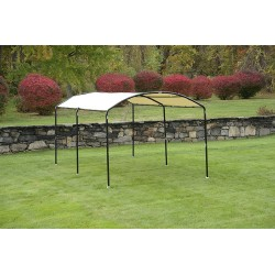Shelter Logic 10x18 Monarc Round Top Canopy - Sandstone (25867)