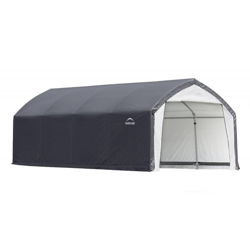Shelter Logic 12x20x9 Accela Frame HD Shelter Canopy Kit - Gray/White (70922)