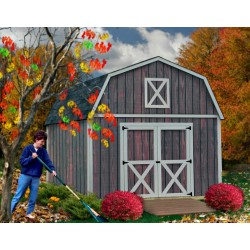 Denver 12x20 Wood Storage Shed Building Kit - ALL Pre-Cut (denver_1220)