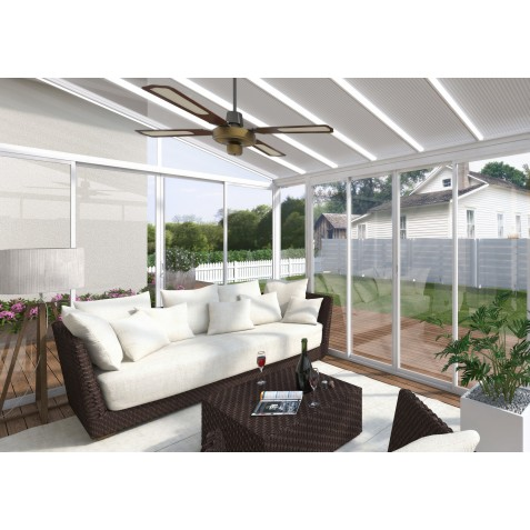 Palram 13x14 San Remo Patio Enclosure Kit w/ Screen Doors  - White  (HG9068)