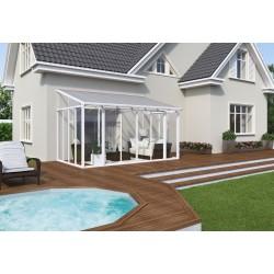 Palram 10x18 San Remo Patio Enclosure Kit w/ Screen Doors - White (HG9067)