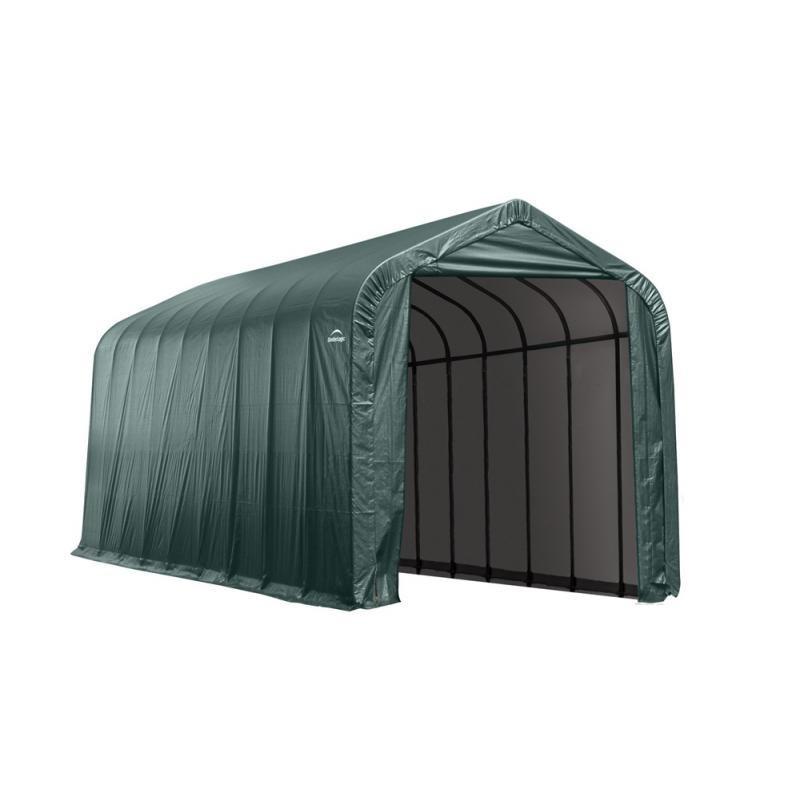 ShelterLogic 16x40x16 Peak Style Shelter, Green (95844)