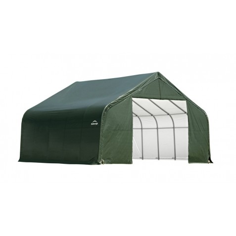 Shelter Logic 28x24x16 Peak Style Instant Garage Kit - Green (86048)