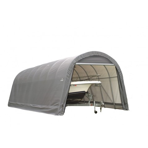 Shelter Logic 15x20x12 Round Style Shelter Kit - Grey (95340)