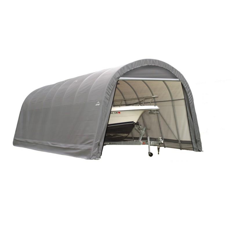 Shelter Logic 15x24x12 Round Style Shelter Kit - Grey (95360)
