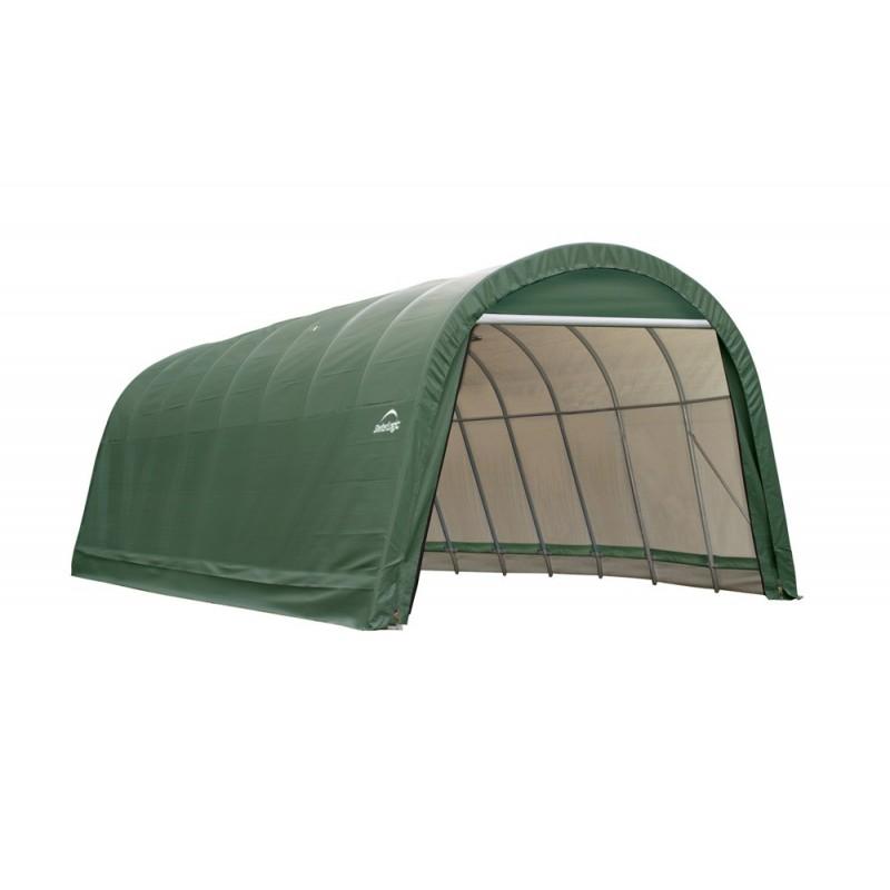 Shelter Logic 15x24x12 Round Style Shelter, Green (95361)