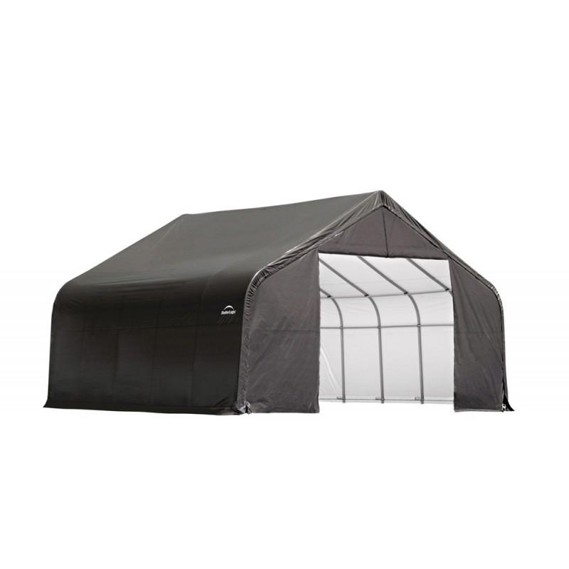Shelter Logic 28x20x20 Peak Style Instant Garage Kit - Grey (86062)
