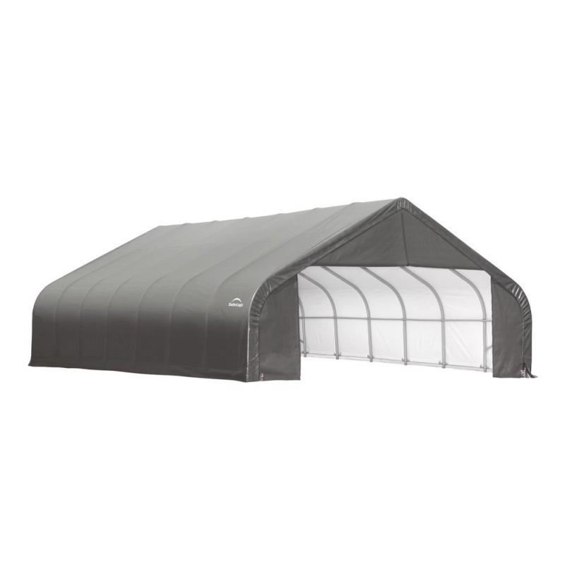 Shelter Logic 28x28x20 Peak Style Shelter, Grey (86070)