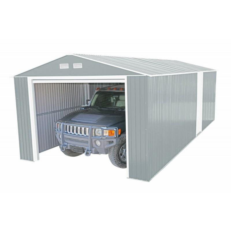 DuraMax 12x20 Imperial Steel Storage Garage Kit - Light Gray (50952)