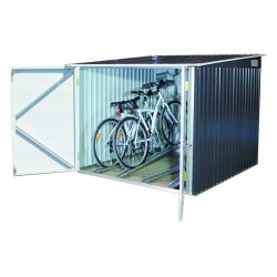 Duramax  Bicycle Storage Shed Kit - Anthracite w/ White Trim (73051)
