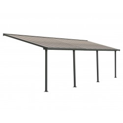 Palram 10x28 Olympia Patio Cover Kit - Gray/Bronze (HG8828)