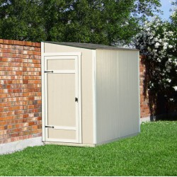 Handy Home Victoria 8x4 Wood Storage Lean-To Shed Kit w/ Floor