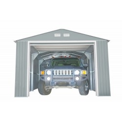 DuraMax 12x32 Light Grey Imperial Metal Storage Garage Building Kit (55252)