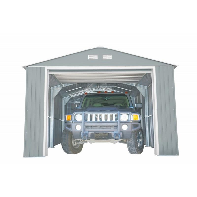 DuraMax 12x32 Light Grey Imperial Metal Storage Garage Building Kit (55252)