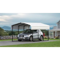 Arrow 10x15x7 Steel Carport Kit (CPH101507)