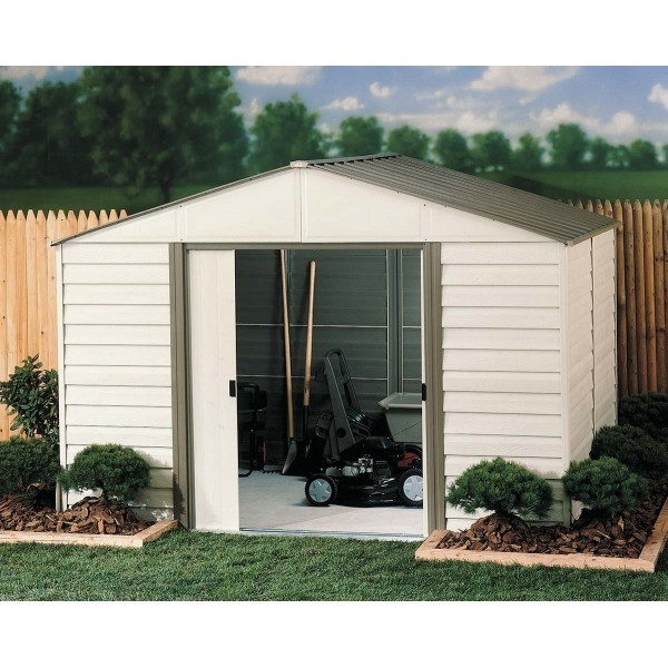 Arrow 10x10 Milford Vinyl Coated Steel Shed Vm1010