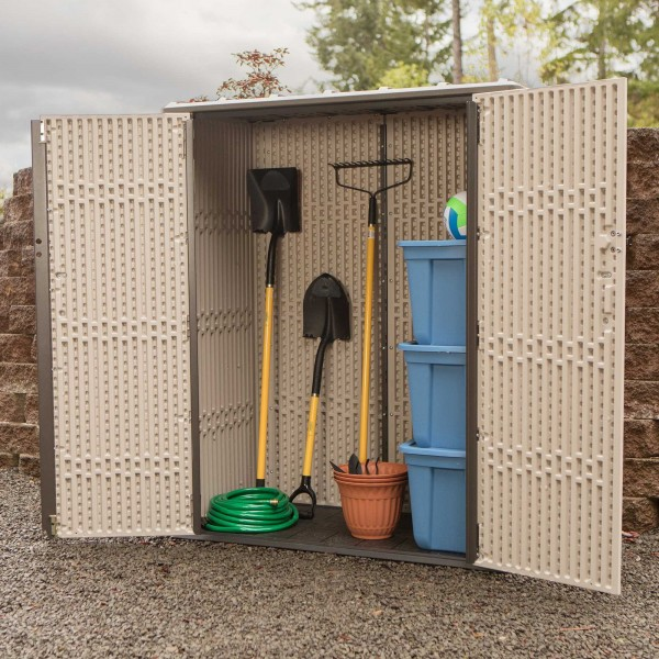 Lifetime Vertical Plastic Storage Shed Kit 60280