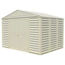 DuraMax Woodbridge 10.5 x 8 Vinyl Storage Shed with Foundation Kit (00224-1M)