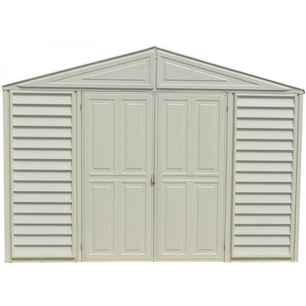 8x10 Metal Shed >> DuraMax Woodbridge 10.5 x 8 Vinyl Storage Shed with Foundation Kit (00224-1M)