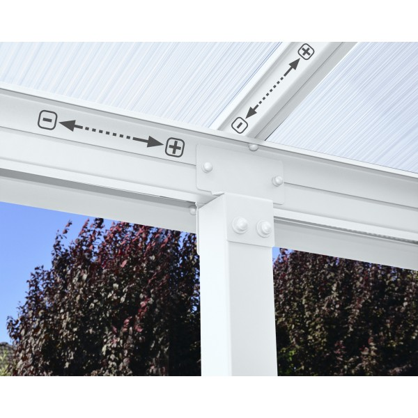 Palram Olympia 10x18 Patio Cover - White (HG8818W)