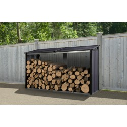 Arrow 8x2 Firewood Rack - Anthracite (90176)