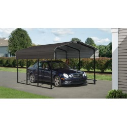 Arrow 10x29x7 Steel Carport Kit - Charcoal (CPHC102907)