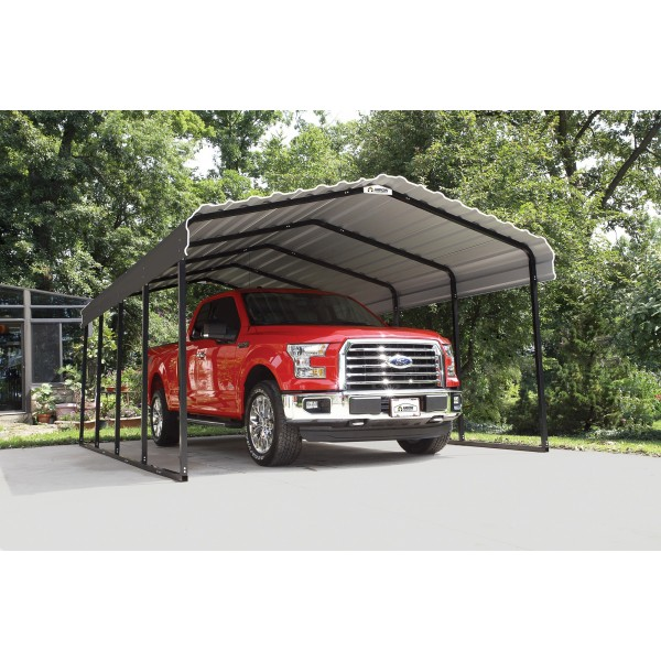 Steel Carport Garage Kits: Arrow 12x24x7 Steel Carport Kit