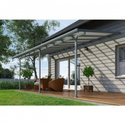 Palram 10x40 Feria Patio Cover Kit - Gray (HG9440)
